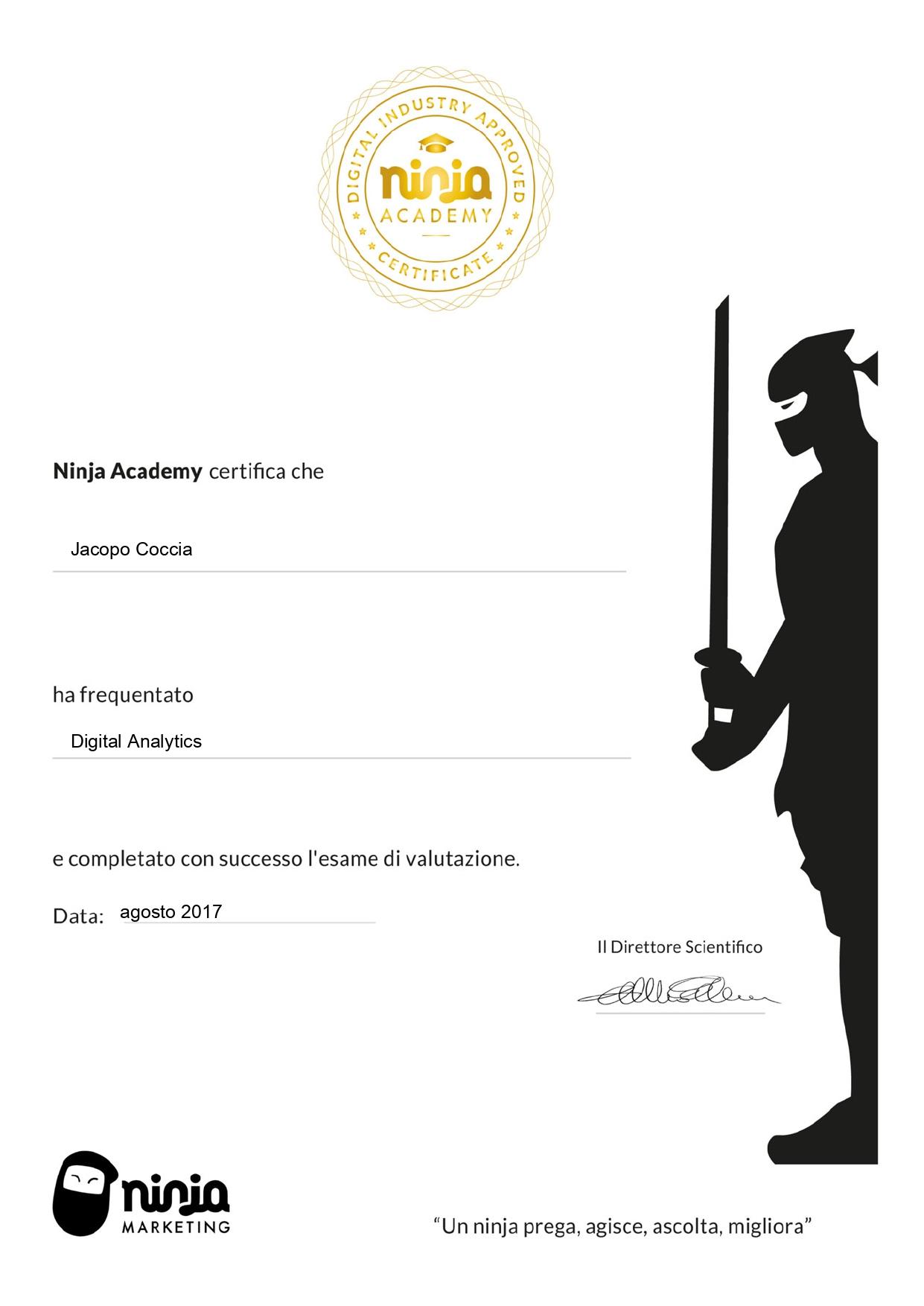 Certificazione Ninja Academy