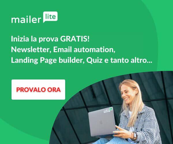 Promozione Mailerlite